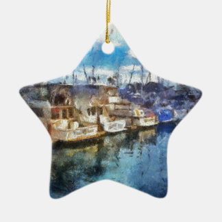 Boats in Dana Point Christmas Ornament