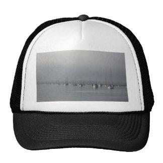 Boats in fog mesh hats