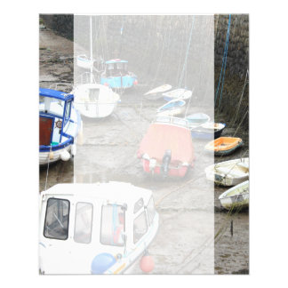 Boats in Harbor at Low Tide. 11.5 Cm X 14 Cm Flyer