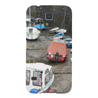 Boats in Harbor at Low Tide. Galaxy S5 Case