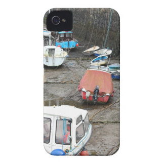 Boats in Harbor at Low Tide. iPhone 4 Cover