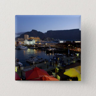 Boats in harbor, South Africa 15 Cm Square Badge