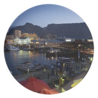Boats in harbor, South Africa Plate