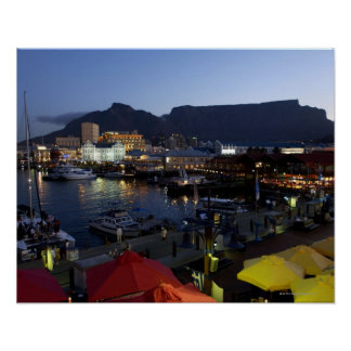 Boats in harbor, South Africa Poster