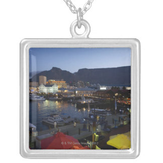 Boats in harbor, South Africa Silver Plated Necklace