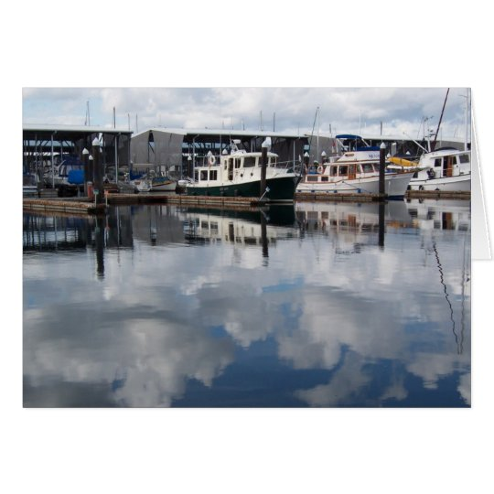 Boats in Harbour notecards Card