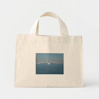 boats in lake Michigan Canvas Bag