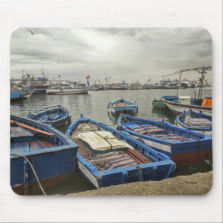 Boats In Port Mouse Mat