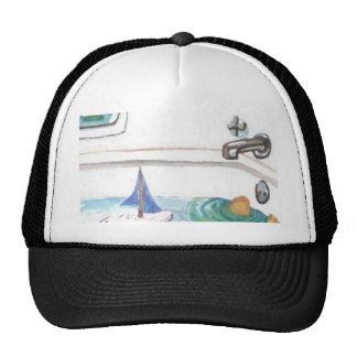 Boats in the Bathtub Past Time to go to the Beach Hat
