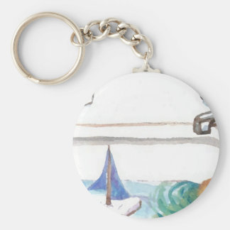 Boats in the Bathtub Past Time to go to the Beach Keychains