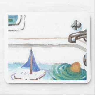 Boats in the Bathtub Past Time to go to the Beach Mousepad