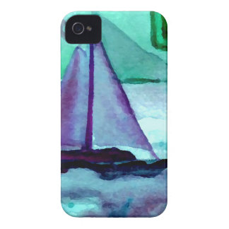 Boats in the Bathtub Sailing Art CricketDiane iPhone 4 Case-Mate Case