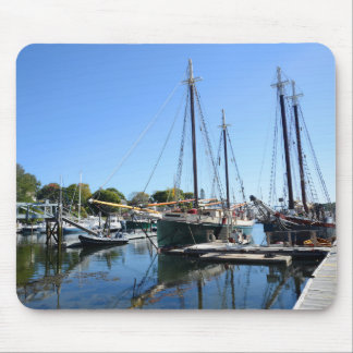 boats in the harbor in Camden, Maine Mouse Pad