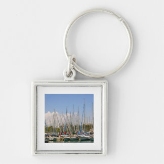 Boats in the Harbour Key Chain