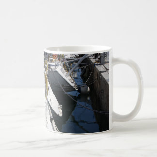 Boats in the harbour Mug