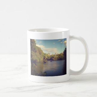 Boats in The Lake at Central Park, New York City Classic White Coffee Mug