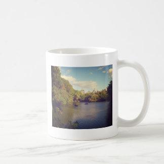 Boats in The Lake at Central Park, New York City Basic White Mug