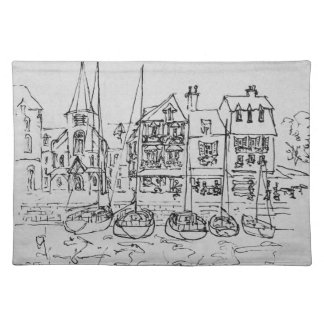 Boats in the Port at Honfleur | Normandy, France Placemat