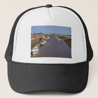 Boats in the sun trucker hat