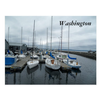 Boats in Washington State Postcard