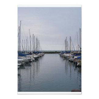 "boats 5"" x 7"" invitation card"