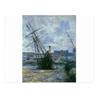 Boats Lying at Low Tide at Facamp by Claude Monet Postcard
