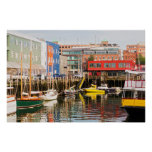 Boats Moored | Portland, Maine Poster