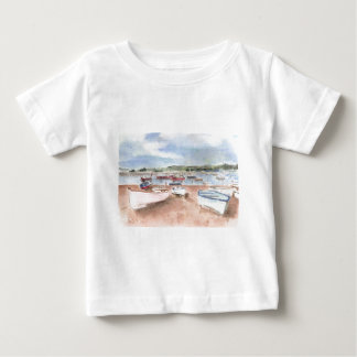 boats on back beach baby T-Shirt
