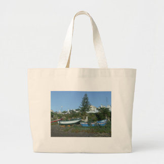 Boats on beach near Fuengirola Tote Bags