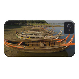 Boats on lake between Kyauktawgyi Paya and iPhone 4 Case-Mate Cases