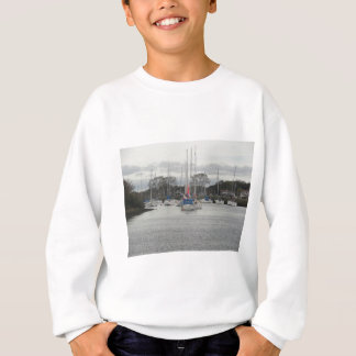 Boats on River Stour Sweatshirt