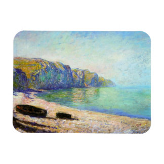 Boats on the Beach at Pourville, Low Tide Monet Rectangular Photo Magnet