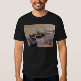 Boats on the beach by Claude Monet T Shirts
