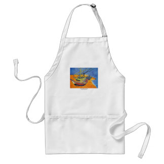 Boats on the Beach by Vincent van Gogh Standard Apron