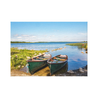 """Boats on the Irish lough"" canvas print/wall art"
