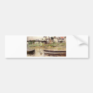Boats on the Seine by Berthe Morisot Bumper Sticker