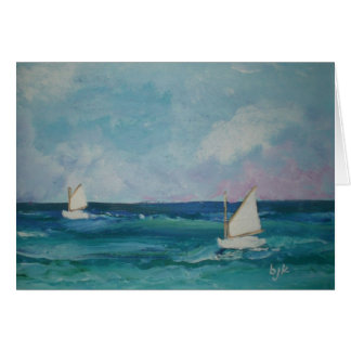 Boats on the Water Notecards Card