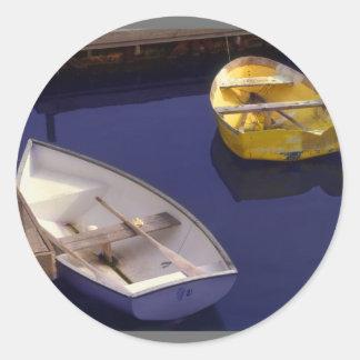 Boats Round Sticker