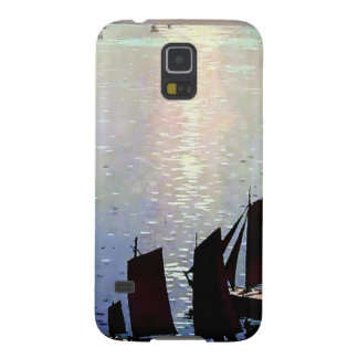 Boats sunset painting galaxy s5 case