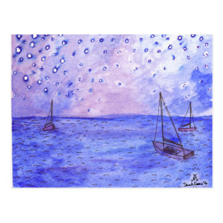 Boats Watercolor Postcards