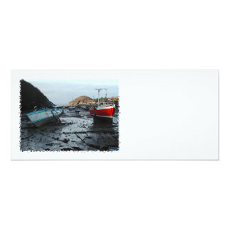 Boats. Watermouth, Devon, UK. 10 Cm X 24 Cm Invitation Card