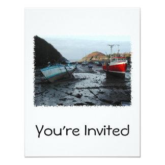 Boats. Watermouth, Devon, UK. 11 Cm X 14 Cm Invitation Card