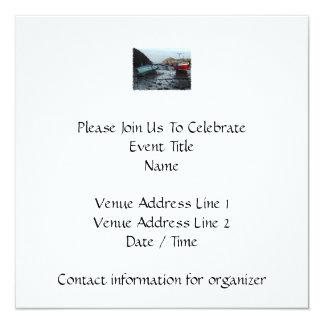 Boats. Watermouth, Devon, UK. 13 Cm X 13 Cm Square Invitation Card