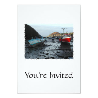 Boats. Watermouth, Devon, UK. 13 Cm X 18 Cm Invitation Card