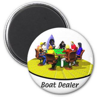 Boats, Yachts - Boat Dealer 6 Cm Round Magnet