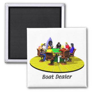 Boats, Yachts - Boat Dealer Square Magnet