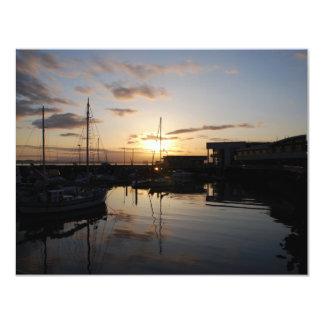 BoatsSunset041609 11 Cm X 14 Cm Invitation Card