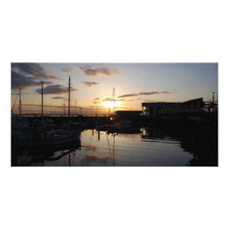 BoatsSunset041609 Photo Card Template