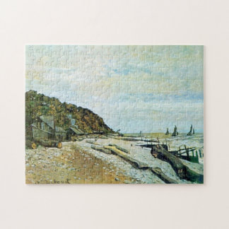 Boatyard Near Honfleur Monet Fine Art Jigsaw Puzzle