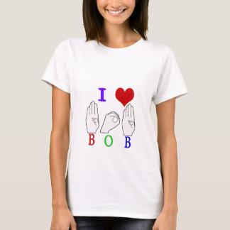 BOB ASL FINGERSPELLED NAME SIGN T-Shirt